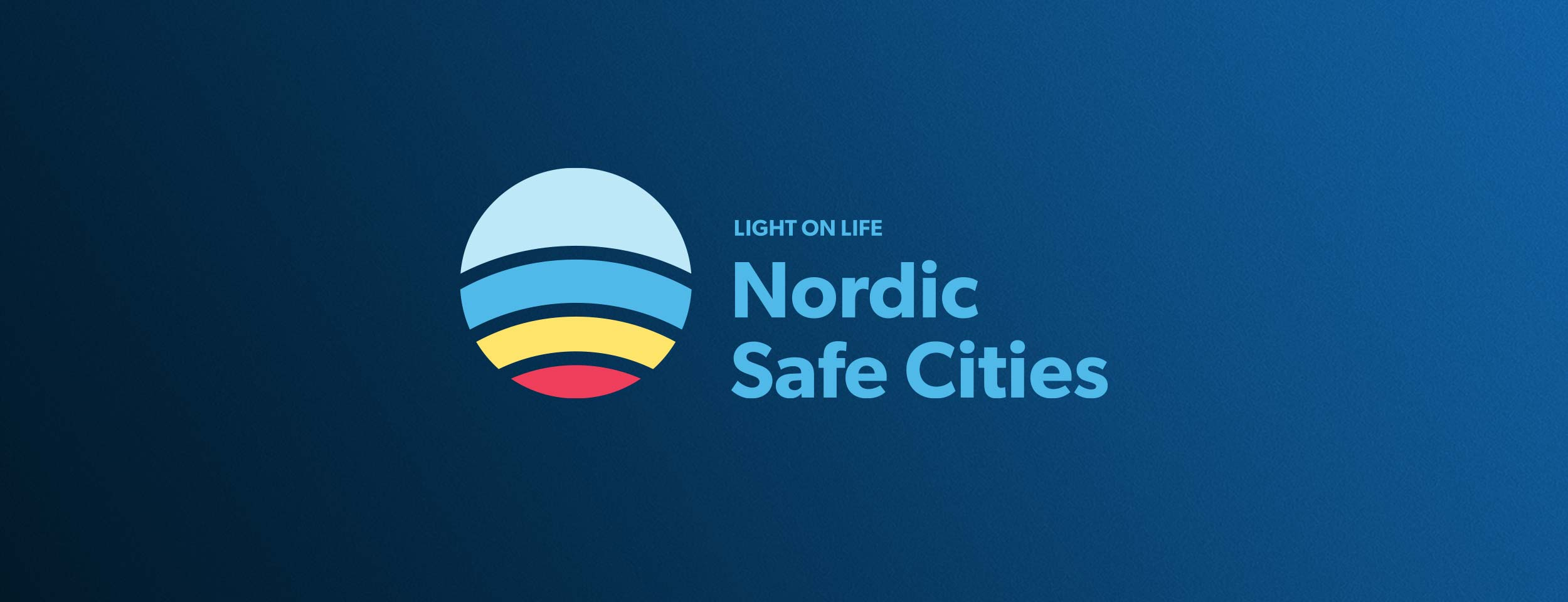 Nordic Safe Cities Logo with payoff
