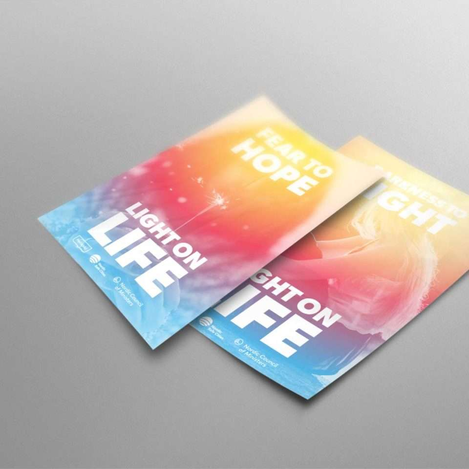 Nordic Safe Cities, Light on life poster