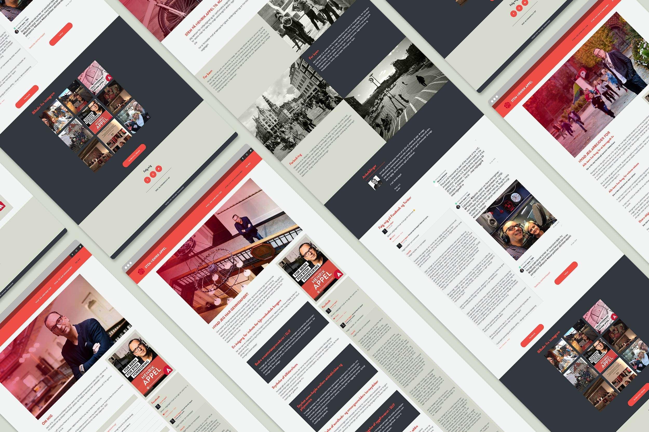 Stem Henrik Appel website interface
