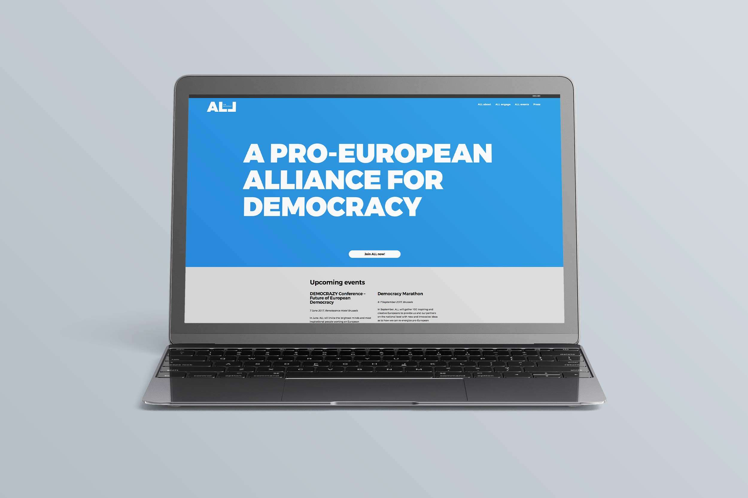 ALL for Democracy Macbook