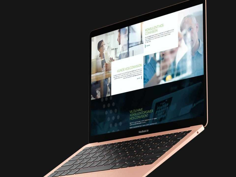 Convision website on an Macbook Air